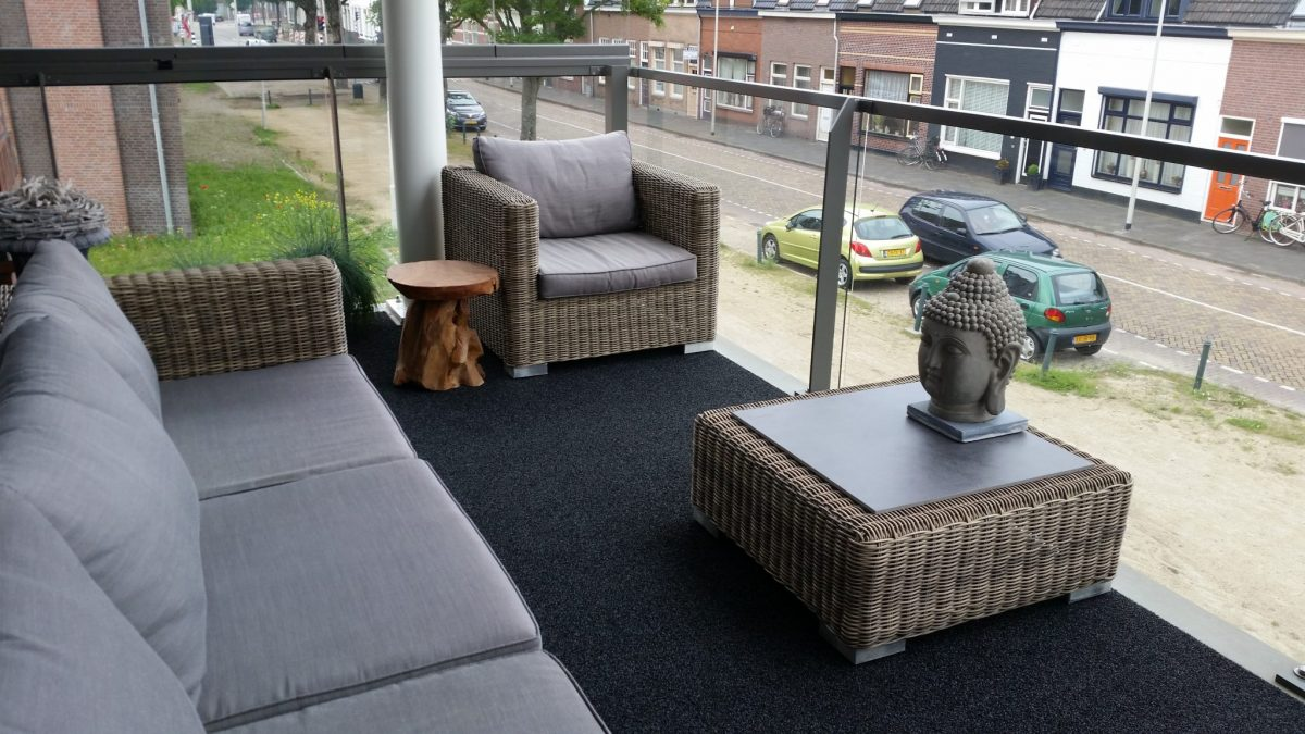 buitentapijt remix antraciet balkon foto 1