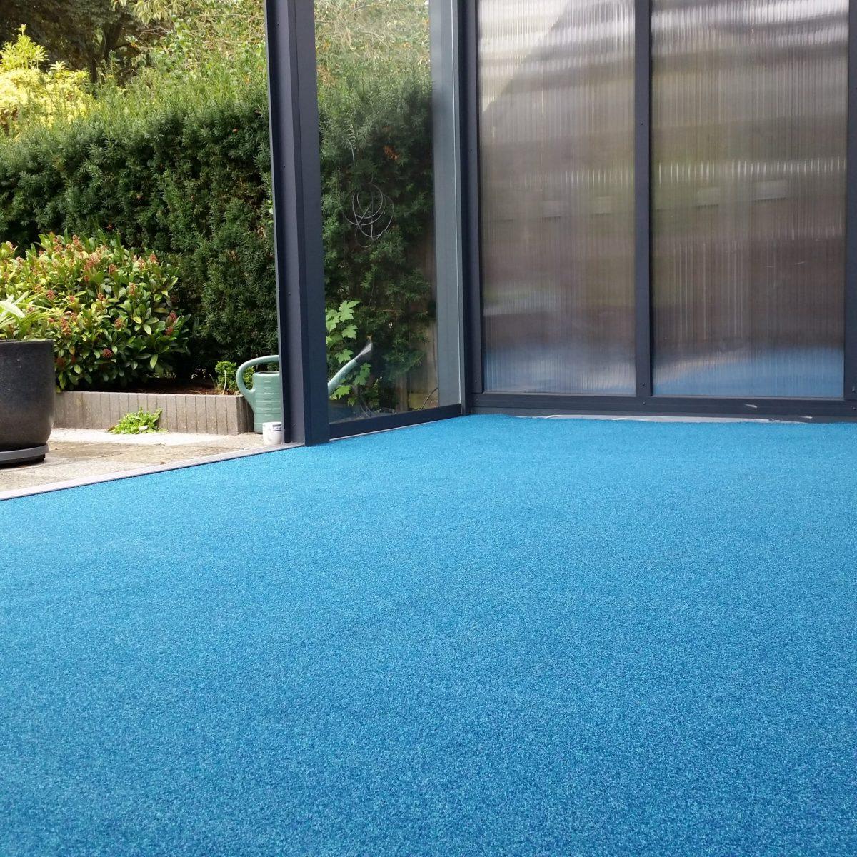 Buitentapijt wellness blauw foto 1
