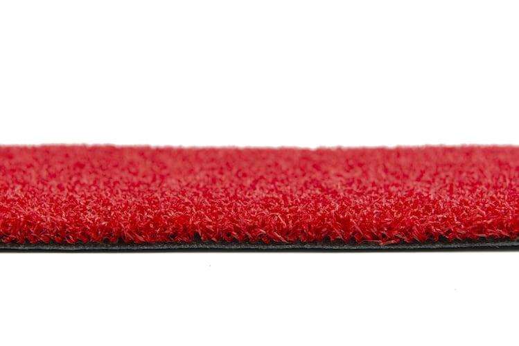 Rode loper zijkant