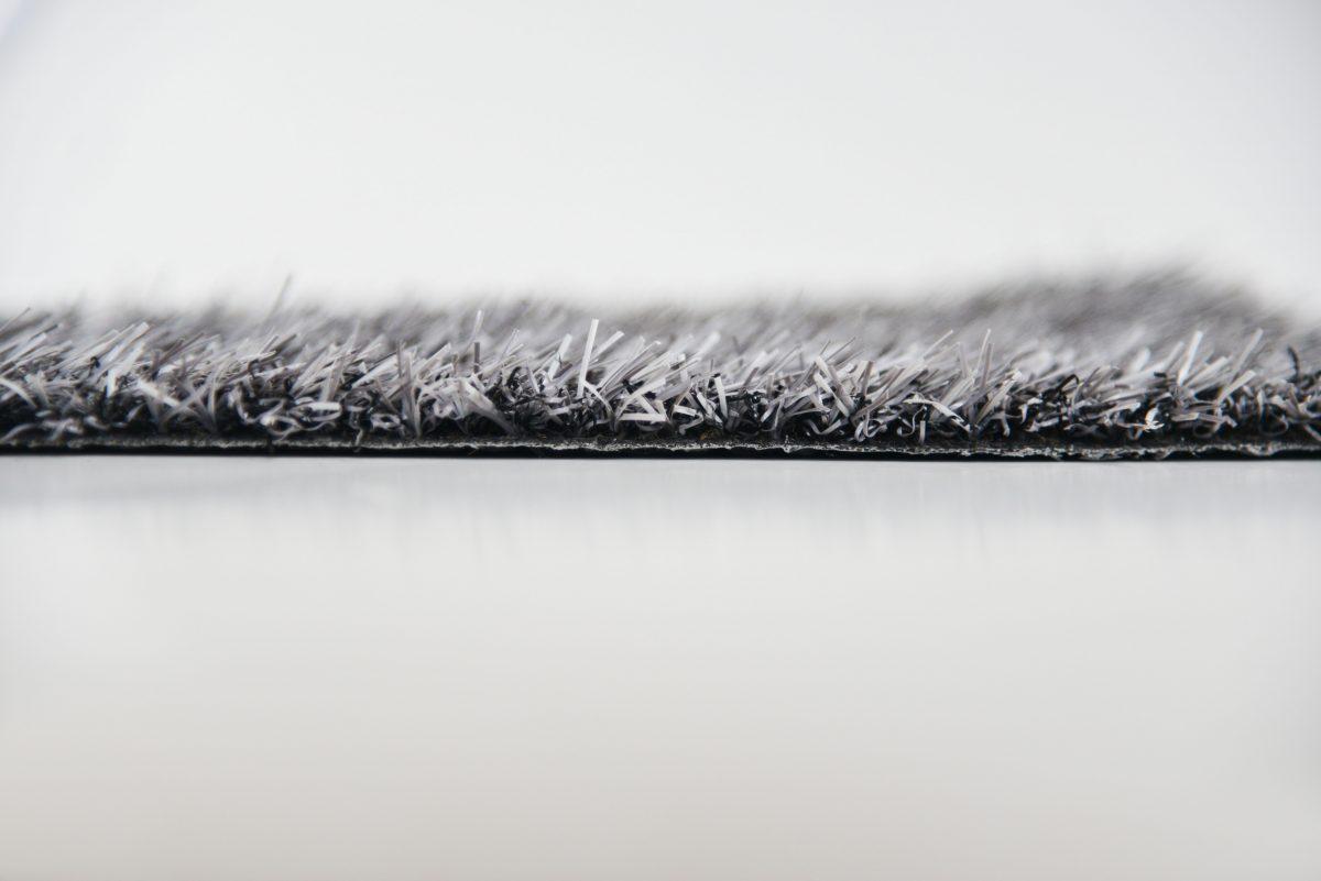 Gekleurd kunstgras Style grijs gemeleerd zijkant