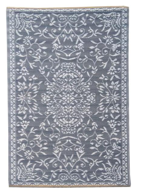Buitenkleed kunststof India zilver