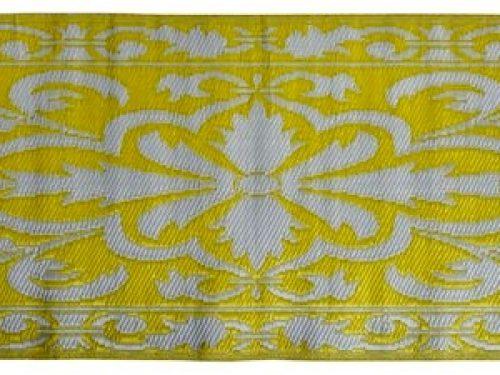 Buitenkleed kunststof sunny geel