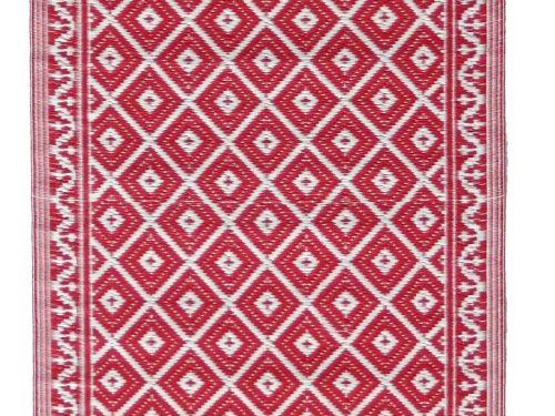 Buitenkleed kunststof loper oosters rood