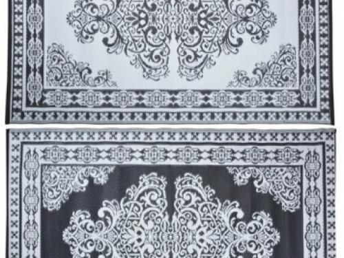 Buitenkleed kunststof oosters zwart