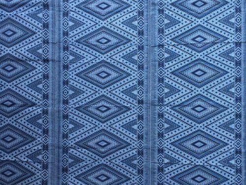Buitenkleed kunststof diamond blauw