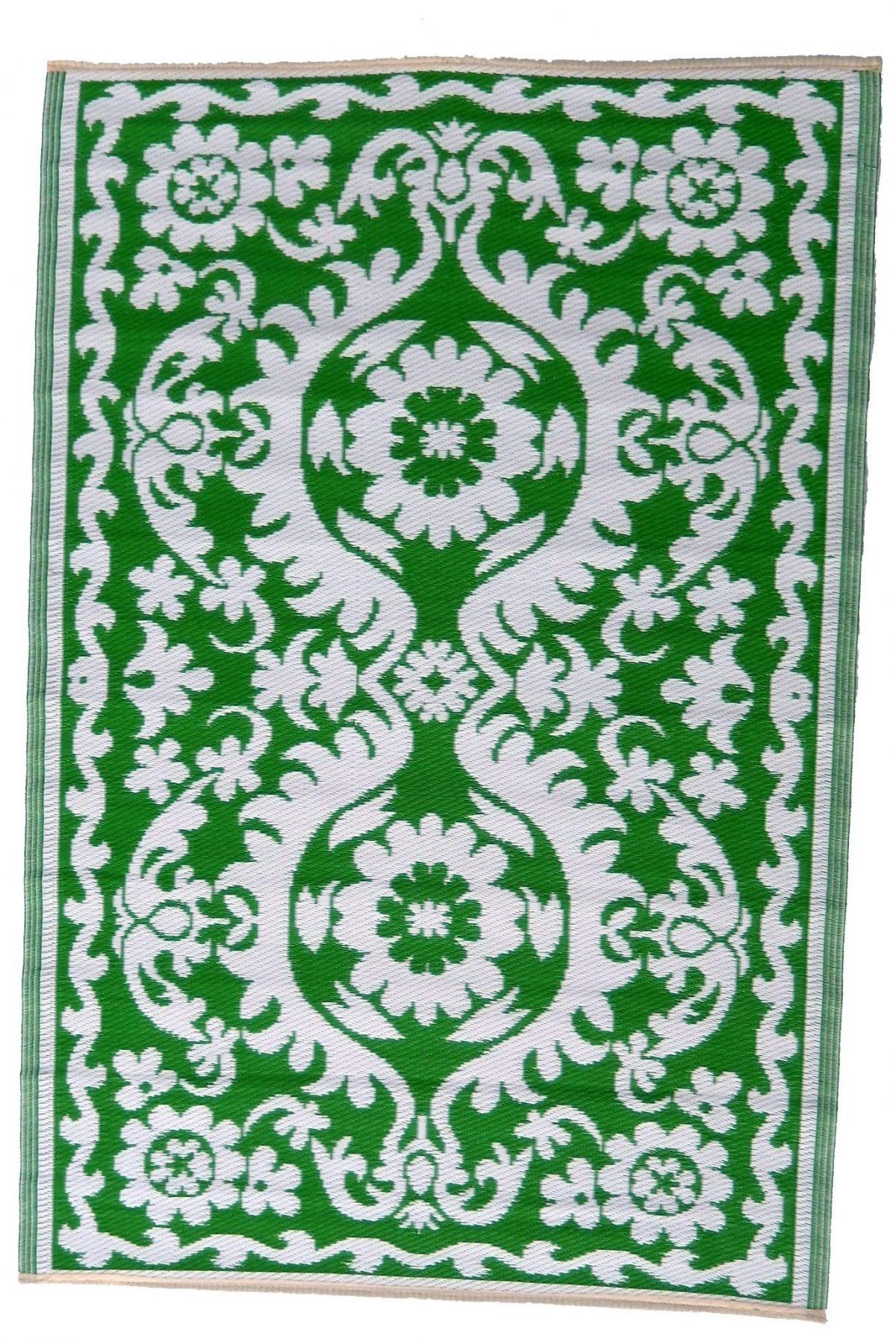 Buitenkleed kunststof oosters groen