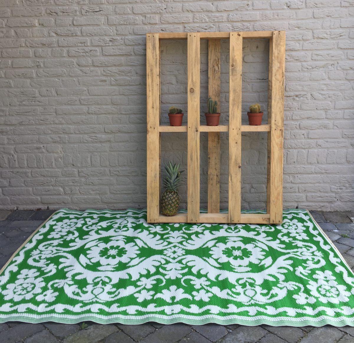 Buitenkleed kunststof oosters groen sfeer