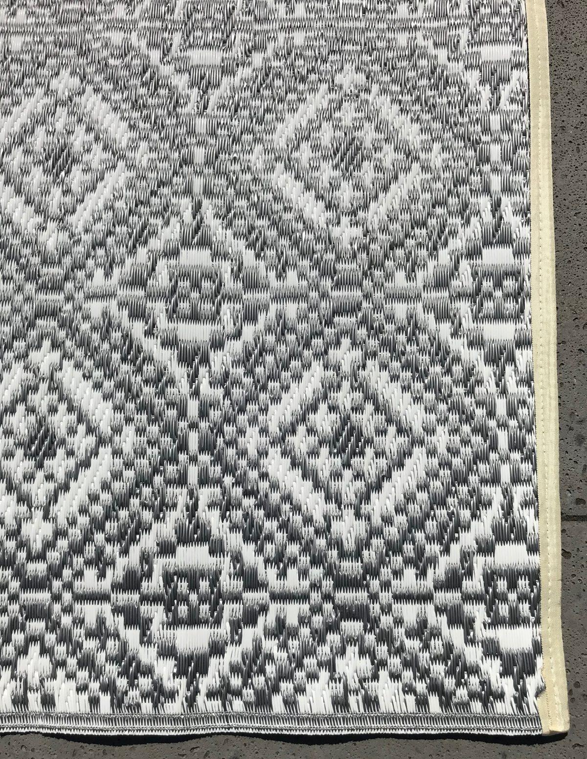 Buitenkleed kunststof loper oosters 2 zilver detail