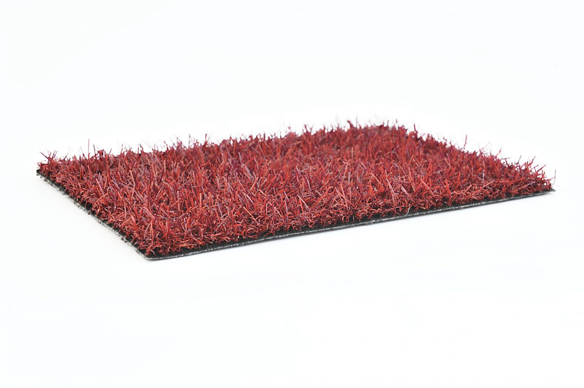 Gekleurd Kunstgras Trendy rood
