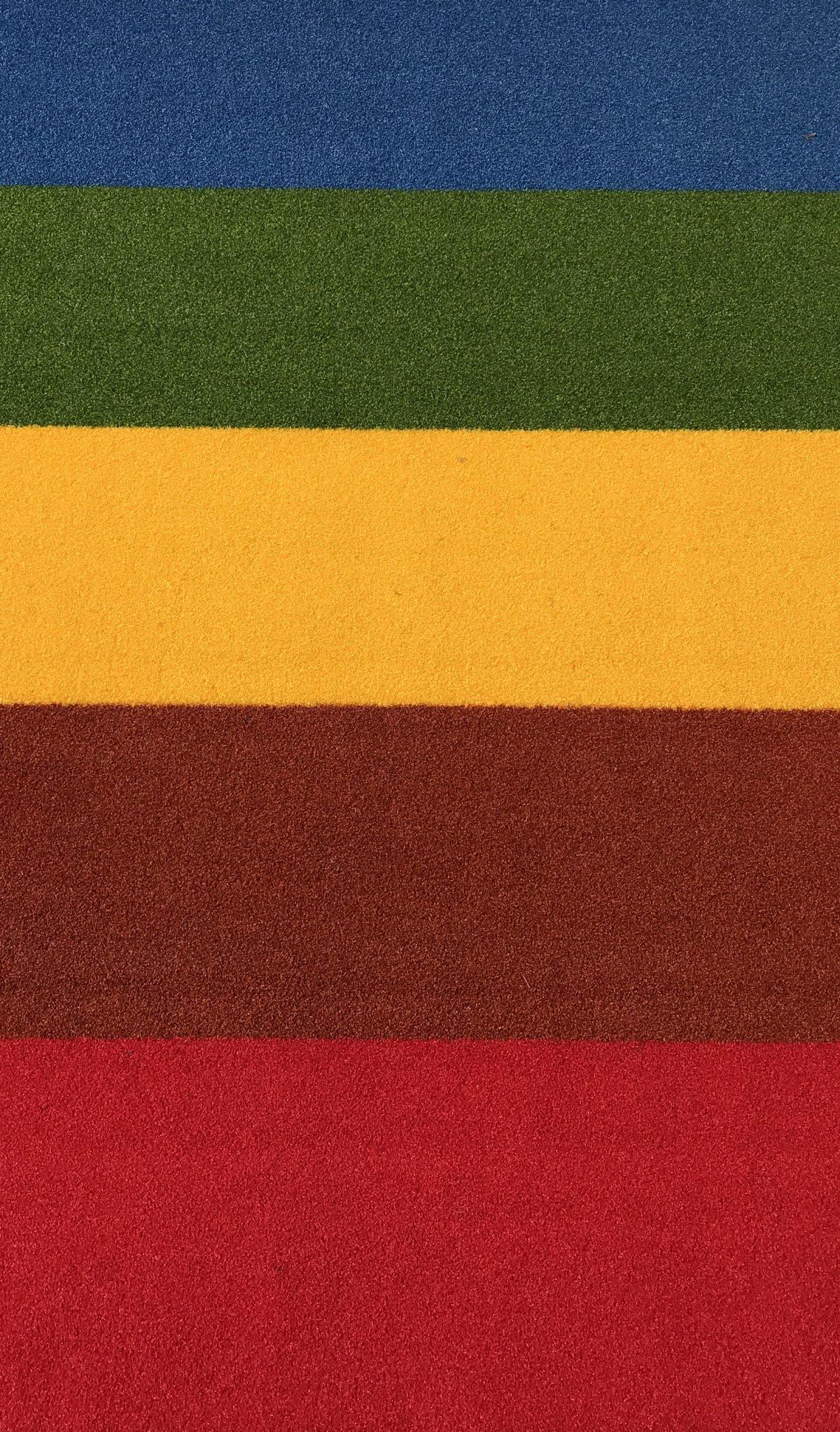 buitentapijt rood/terra/geel/groen/blauw
