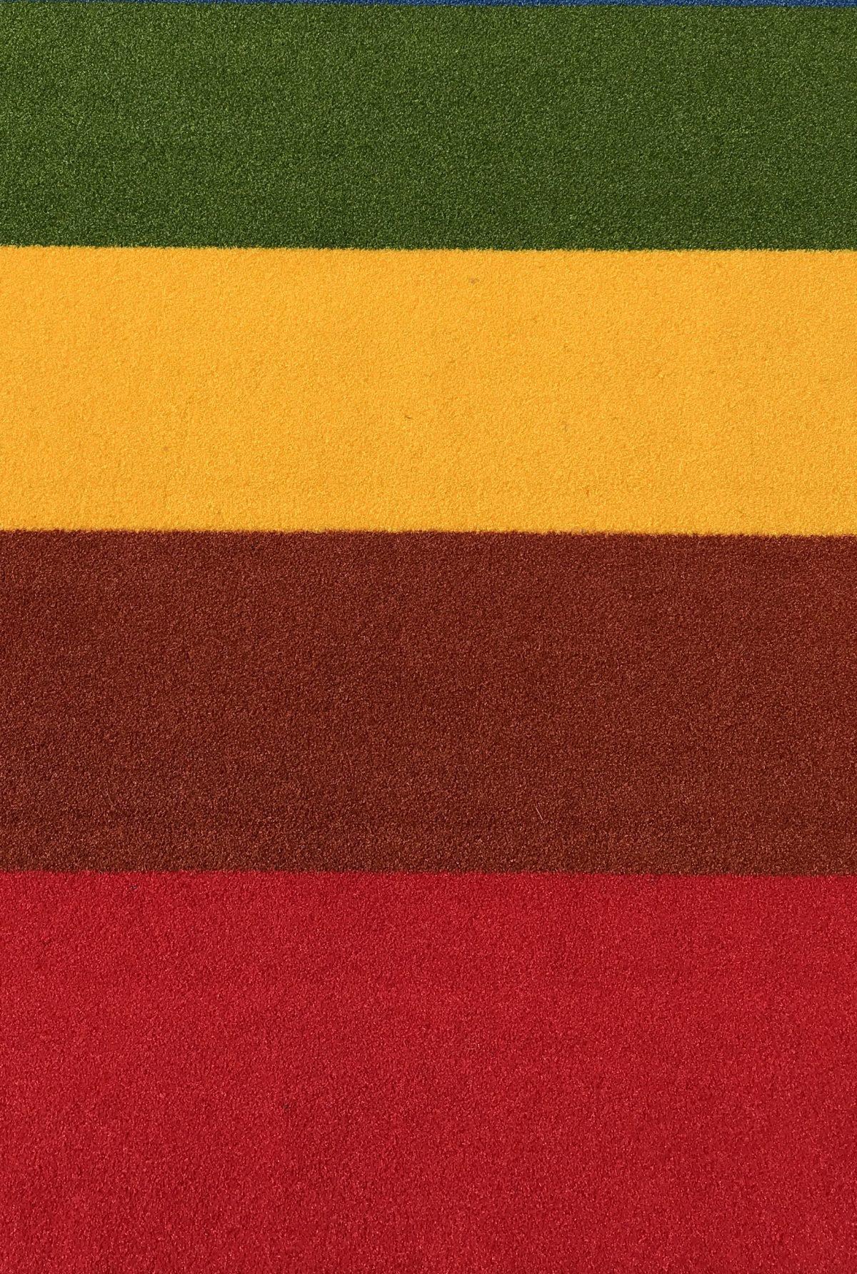 buitentapijt rood/terra/geel/groen
