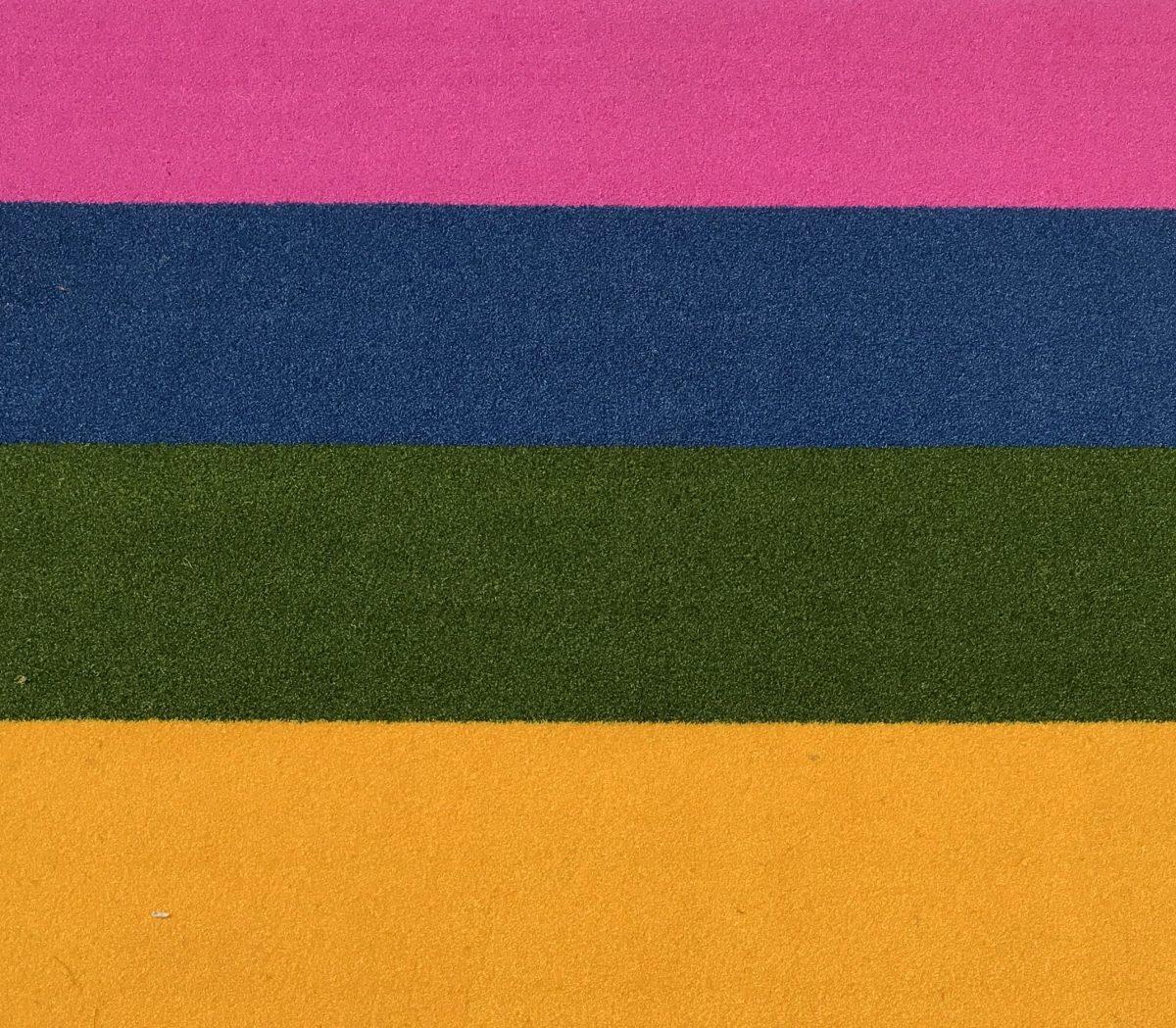 buitentapijt-/geel/groen/blauw/roze