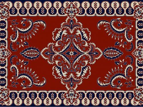 Privat label roodblauwbeige 2 500x375 - Showroom model - Luxe Buitenkleed Barok - 200 x 300cm